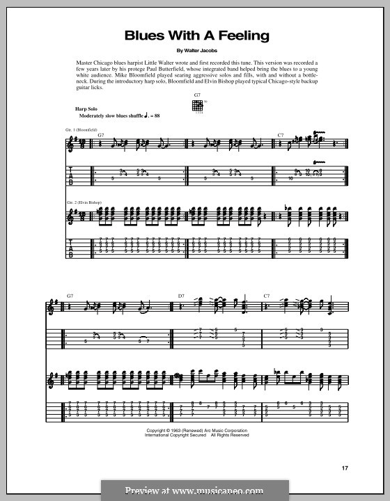 Blues with a Feeling: For guitar with tab by Walter Jacobs