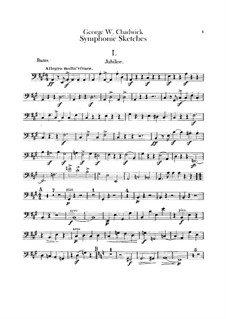 Symphonic Sketches: Double bass part by George Whitefield Chadwick