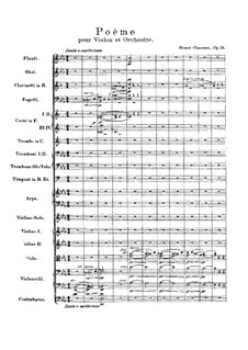 Poem in E Flat Major, Op.25: Full score by Ernest Chausson
