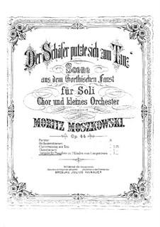 Der Schäfer putzte sich zum Tanz, Op.44: For piano by Moritz Moszkowski
