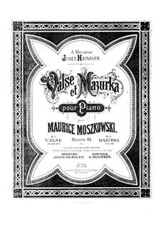 Waltz and Mazurka, Op.46: All pieces by Moritz Moszkowski