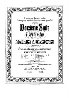Suite for Orchestra No.2, Op.47: For piano four hands by Moritz Moszkowski