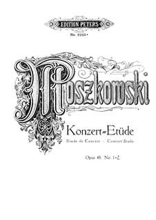 Two Concert Etudes, Op.48: Two Concert Etudes by Moritz Moszkowski