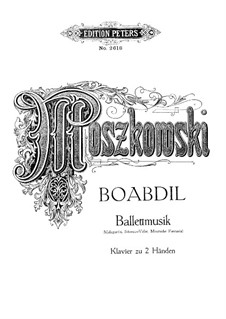 Boabdil, Op.49: Ballet Music, for Piano by Moritz Moszkowski