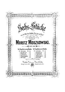 Six Pieces from Music to Drama 'Don Juan and Faust' by Grabbe, Op.56b: Six Pieces from Music to Drama 'Don Juan and Faust' by Grabbe by Moritz Moszkowski