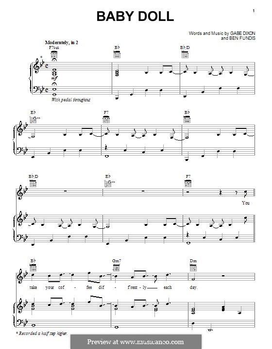Baby Doll (The Gabe Dixon Band): For voice and piano (or guitar) by Ben Fundis, Gabe Dixon