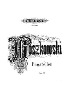 Three Bagatelles, Op.63: Three Bagatelles by Moritz Moszkowski