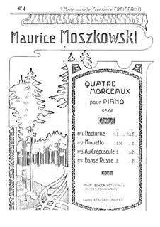 Four Pieces for Piano, Op.68: Four Pieces for Piano by Moritz Moszkowski