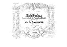 Kaleidoskop (Kaleidoscope). Miniatures for Piano Four Hands, Op.74: Parts by Moritz Moszkowski