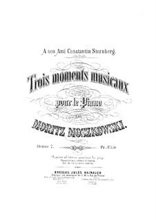 Three Musical Moments, Op.7: Three Musical Moments by Moritz Moszkowski