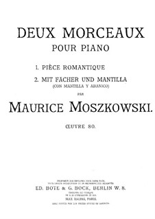 Two Pieces for Piano, Op.80: Two Pieces for Piano by Moritz Moszkowski