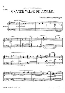 Grande valse de concert (Grand Concert Waltz), Op.88: Grande valse de concert (Grand Concert Waltz) by Moritz Moszkowski