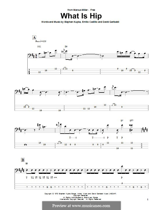 What Is Hip (Tower of Power): For bass guitar with tab by David Garibaldi, Emilio Castillo, Stephen Kupka