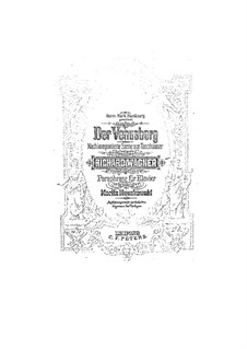 Paraphrase on 'Tannhauser' by Wagner: Paraphrase on 'Tannhauser' by Wagner by Moritz Moszkowski