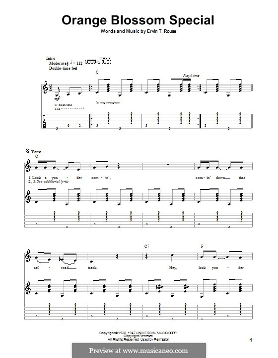 Orange Blossom Special: For guitar with tab by Ervin T. Rouse