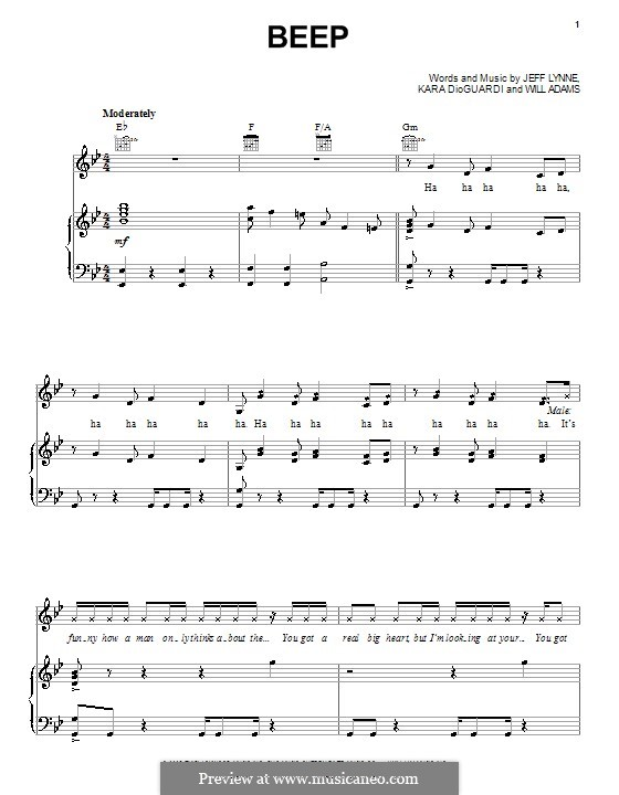 Beep (Pussycat Dolls): For voice and piano (or guitar) by will.i.am
