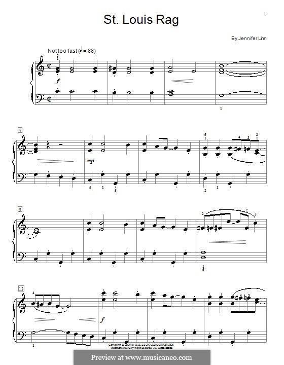 St. Louis Rag: For piano by Jennifer Linn