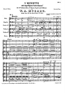 Two Minuets for Orchestra, K.463: Two Minuets for Orchestra by Wolfgang Amadeus Mozart