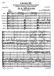 Three Marches for Orchestra, K.408: Full score by Wolfgang Amadeus Mozart