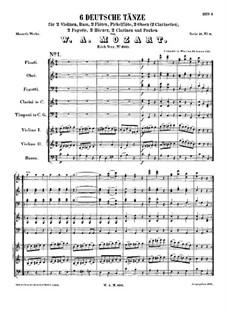Six German Dances, K.600: Six German Dances by Wolfgang Amadeus Mozart