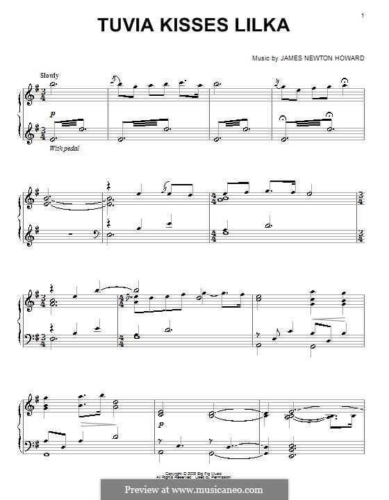 Tuvia Kisses Lilka: For piano by James Newton Howard