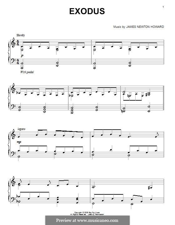 Exodus: For piano by James Newton Howard