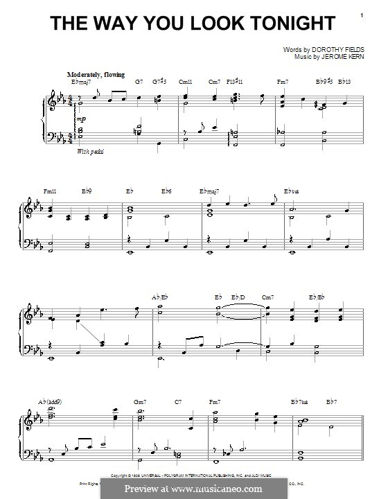 The Way You Look Tonight: For voice and piano or guitar (Steve Tyrell) by Jerome Kern