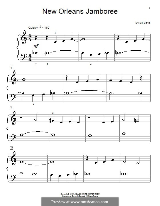 New Orleans Jamboree: For piano by Bill Boyd