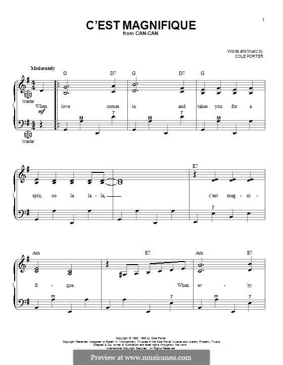C'est Magnifique: For accordion by Cole Porter