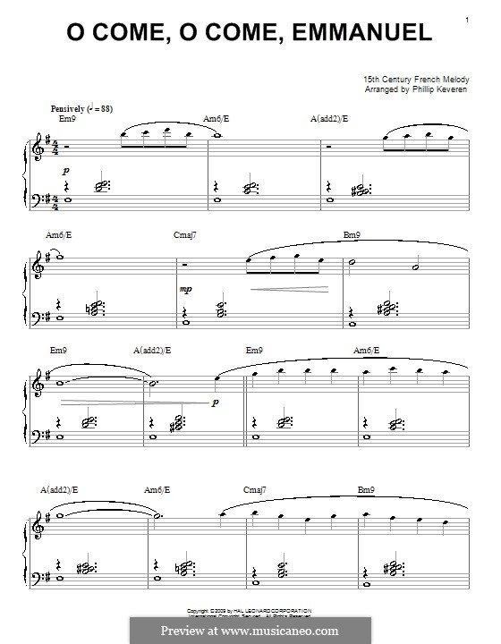 O Come, O Come, Emmanuel, for Piano: For a single performer by folklore