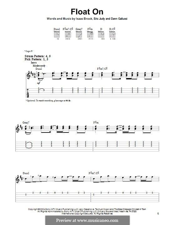 Float on (Modest Mouse): For guitar (very easy version) by Dann Gallucci, Eric Judy, Isaac Brock