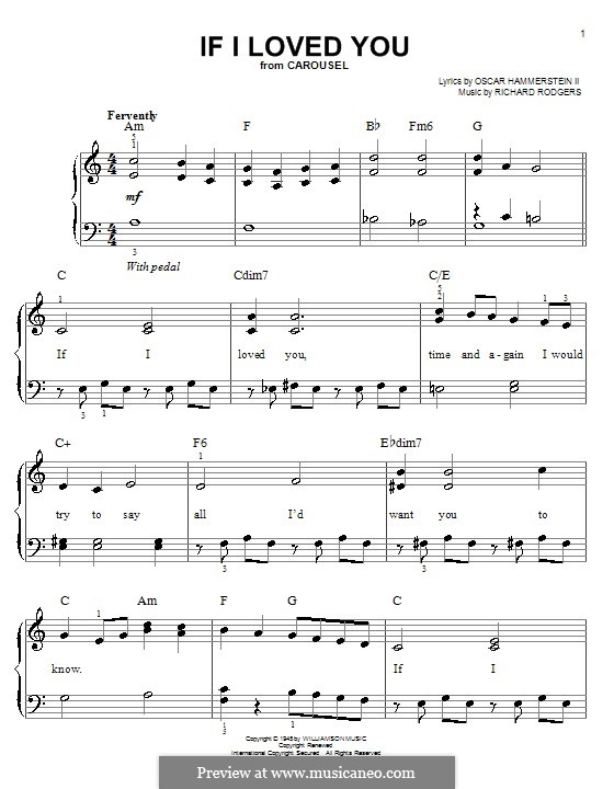 If I Loved You (from Carousel): For easy piano by Richard Rodgers