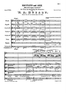 Misero! O sogno, o son desto, K.431: Full score by Wolfgang Amadeus Mozart