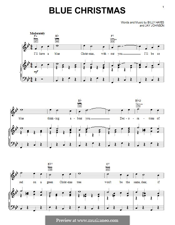 Blue Christmas: For voice and piano or guitar (Melissa Etheridge) by Billy Hayes, Jay Johnson