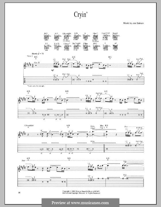 Cryin': For guitar with tab by Joe Satriani