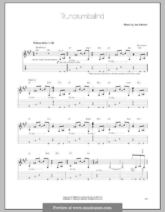 Trundrumbalind: For guitar with tab by Joe Satriani