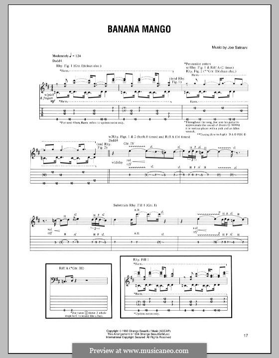 Banana Mango: For guitar with tab by Joe Satriani