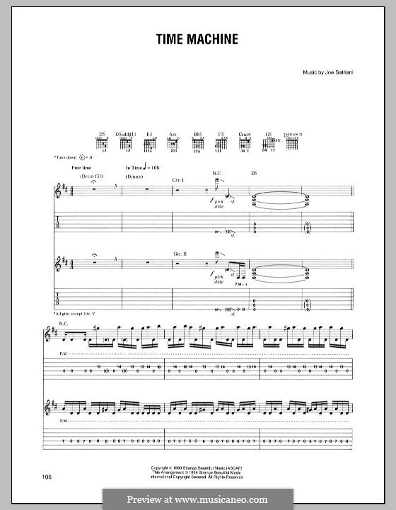 Time Machine: For guitar with tab by Joe Satriani
