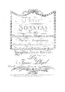 Three Sonatas, B.431-433 Op.14: Three Sonatas by Ignaz Pleyel