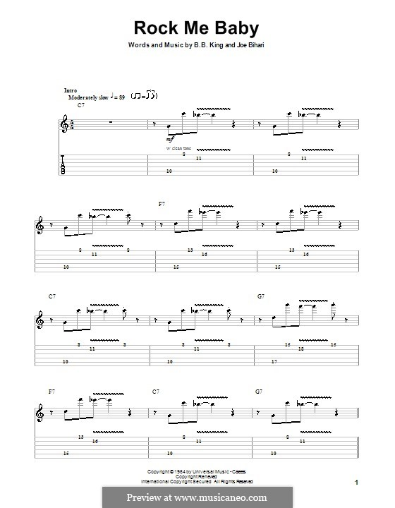 Rock Me Baby by J. Bihari - sheet music on MusicaNeo