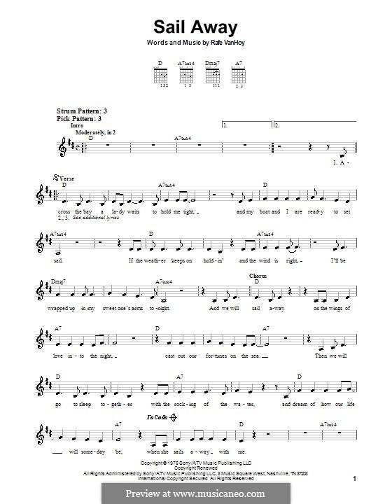 Sail Away: For guitar by Rafe Van Hoy