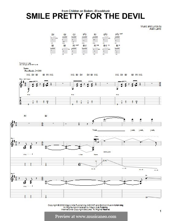 Smile Pretty for the Devil (Children of Bodom): For guitar with tab by Alexi Laiho