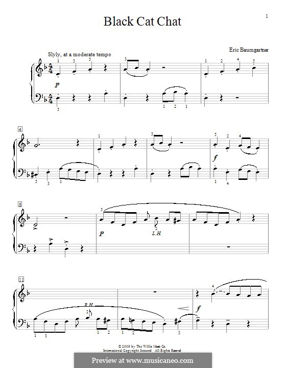 Black Cat Chat: For piano by Eric Baumgartner