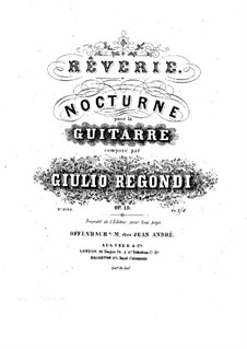 Rêverie-nocturne, Op.19: For guitar by Giulio Regondi