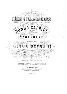 Fête villageoise, Op.20: For guitar by Giulio Regondi