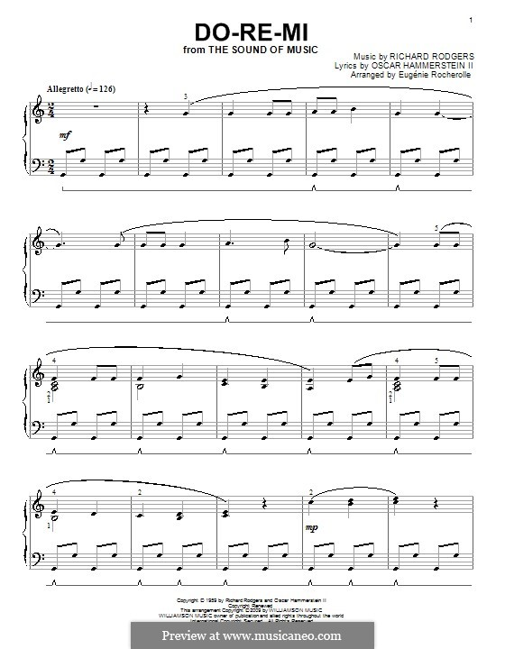 Do-Re-Mi (from The Sound of Music): For piano (high quality sheet music) by Richard Rodgers