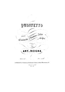 Quintet for Clarinet and Strings in F Major, Op.107: Quintet for Clarinet and Strings in F Major by Anton Reicha