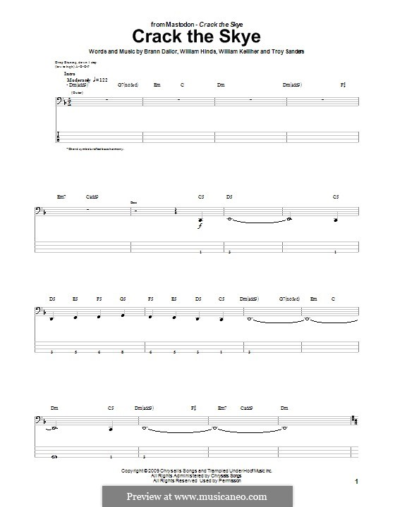 Crack the Skye (Mastodon): For bass guitar with tab by Brann Dailor, Troy Sanders, William Hinds, William Kelliher