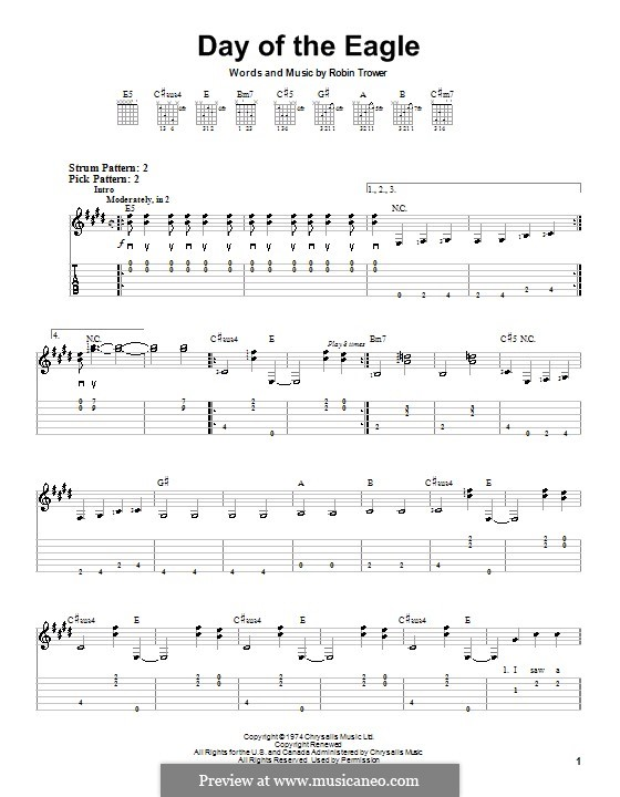Day of the Eagle: For guitar (very easy version) by Robin Trower