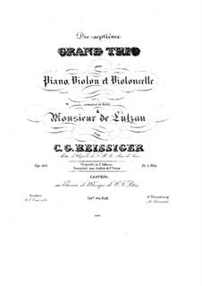 Piano Trio No.17, Op.183: Piano Trio No.17 by Carl Gottlieb Reissiger